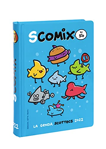 Comix - Diario 2021/2022 16 Mesi - Comix Scottecs by Sio colore Blu - Medium