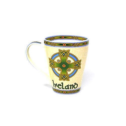 Irish Coffee Mug - Celtic Symbols - Celtic Cross (Single)