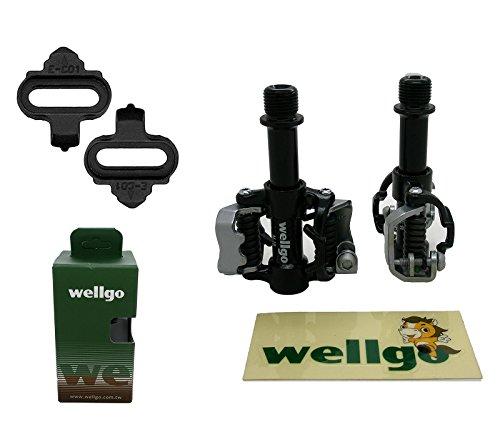 ONOGAL SPD Wellgo WAM M18 - Pedali Automatici per Bicicletta MTB e Strada + Calze 3614