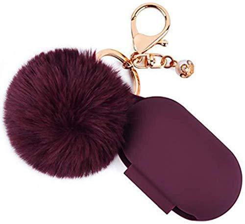 para Samsung Galaxy Buds / Buds Plus Funda de Silicona Linda con Llavero, Accesorio para Auriculares con Cubierta Protectora, Protección de Cubierta Completa (Vino Rojo)