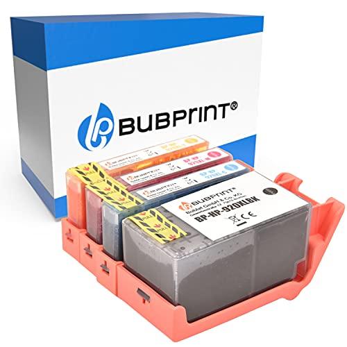 Bubprint Kompatibel Druckerpatronen als Ersatz für HP 920 XL 920XL für OfficeJet 6000 6500 6500A Plus 7000 Special Edition 7500A Wireless Schwarz Cyan Magenta Gelb Multipack 4er-Pack