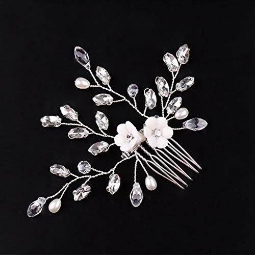 SimpleLife Cristal de Las Mujeres Peine del Pelo Flor Novia Peine Joyería Accesorios Hechos a Mano Boda Tocados Elegantes Accesorios para el Cabello