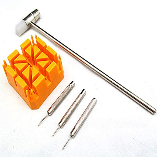 Horloge band armband Link Repair Remover Tool Hammer Punch Pins Riemhouder Kit Meters van de Meter Reparatie Accessoires Gereedschap
