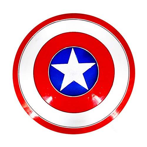 ABDOMINAL WHEEL 47Cm Escudo Capitan America Metal Avengers Versin de la Pelcula Modelo de Utilera de Mano,Accesorios de Accesorios de Superhroe de Juegos de rol para Adultos A,47CM
