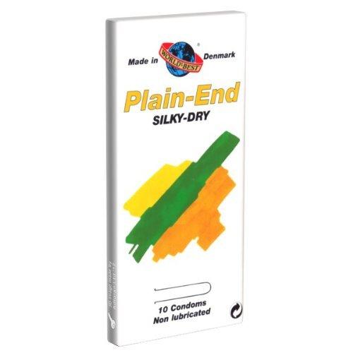 World\'s Best Kondome: Plain End Silky Dry, trocken und ohne Reservoir, 1 x 10 Stück