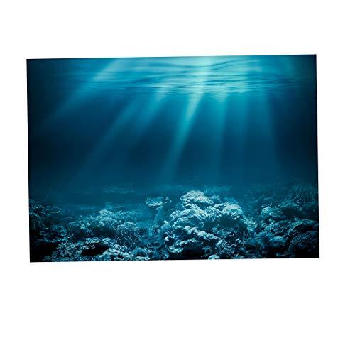 SM SunniMix Aquarium Hintergrund Poster Fisch Tank Dekoration - Unterwasser, L