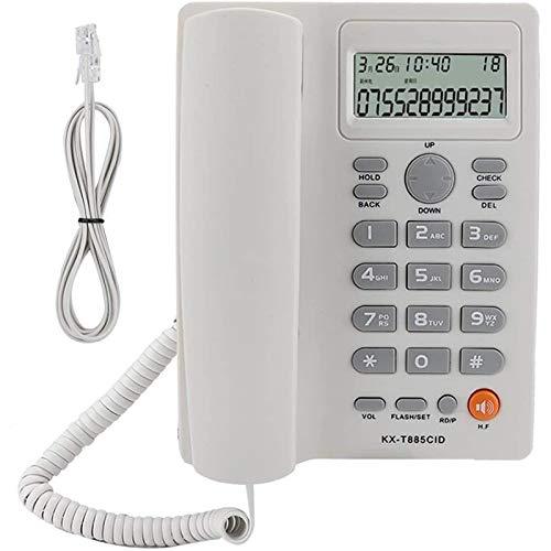 VERDELZ Teléfono Fijo Teléfono De Identificación De Llamadas Llamadas Manos Libres Teléfono Fijo Sonido Claro Teléfono con Reducción De Ruido para La Oficina En Casa Hotel Inglés