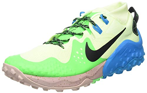NIKE Wildhorse 6, Trail Running Shoe Hombre, Barely Volt Black Poison Green, 42 EU