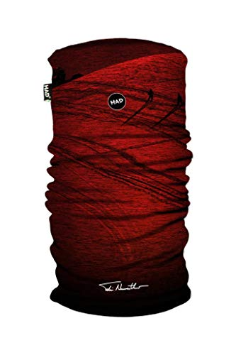 HAD Printed Fleece Tube-Powderday Red by Felix Neureuther Multifunktionstuch, one size