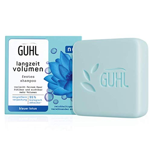 Guhl Festes Shampoo - Langzeit Volumen - Für feines Haar - Verleiht sichtbar mehr Volumen - Inhalt: 75 g, 1 stück