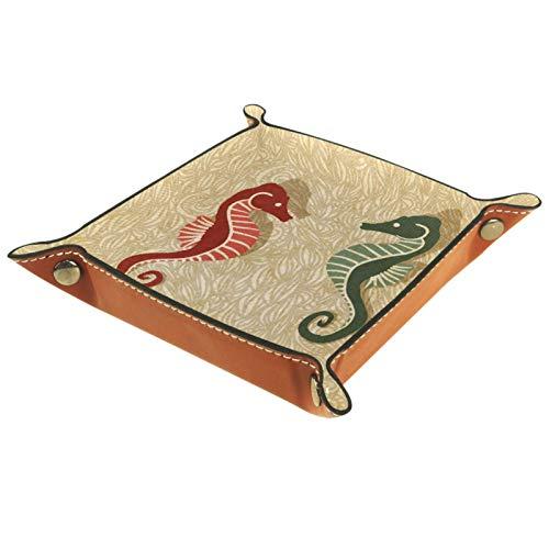 MUMIMI Bandeja de joyería para decoración del hogar, regalo de boda para su pequeño anillo titular caballitos de mar