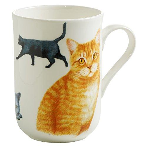 Maxwell & Williams Pets Britisch Kurzhaar Katze, Geschenkbox, Porzellan, PB0713 Becher, braun, weiß, 10.5 x 7.5 x 10.5 cm