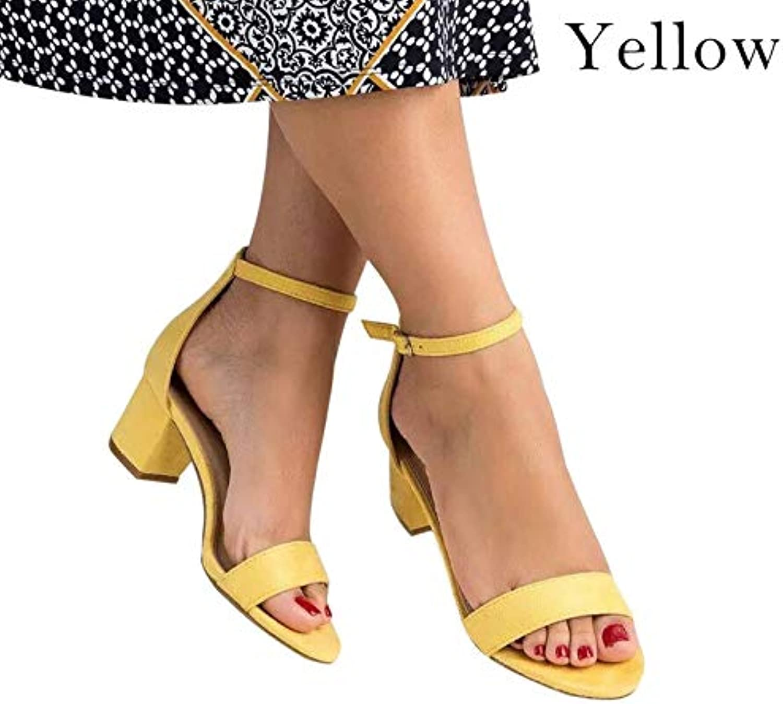 T-JULY Sandal for Women Open Toe Ankle Strap Heels Leopard Prints Summer Chunky High Heels Dress shoes