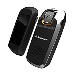 Avantree 18P Sunday Solar Charging Bluetooth Hands Free Visor Car Kit, for Handsfree Call