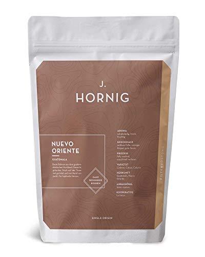 J. Hornig Kaffeebohnen Single Origin, Nuevo Oriente, 100% Arabica Filterröstung aus Guatemala, 250g Ganze Bohne