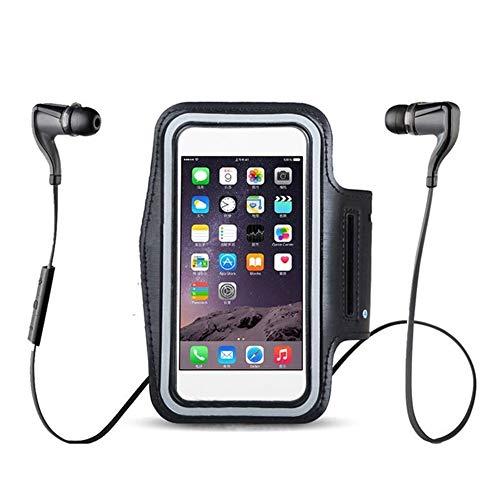 GZSC Brazalete Negro Impermeable Gimnasio Deportes Correr Brazaletes for iPhone XS MAX XR X 8 6 6s 7 Plus 4 4s 5 5s 5c SE Brazalete Teléfono Bolsa Funda Funda (Color : For iPhone7)