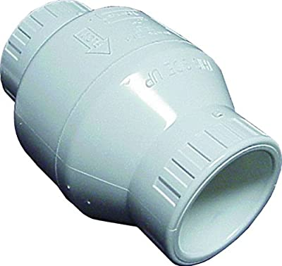 Spears S1520-20 PVC Utility Swing Check Valve, 2-Inch, White by SCP Distributors LLC (Pool Corp)