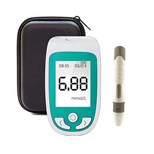 ZGYQGOO 3-in-1-Testkit - Blutzuckertest, Cholesterin- und Harnsäuremonitor-Kit, Home Self