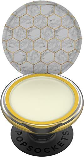 PopSockets: PopGrip Labbra x Burt's Bees - Supporto espandibile e Impugnatura per Smartphone e Tablet con Un Burt's Bees Lip Balm Swappable PopTop - a Nido d'Ape