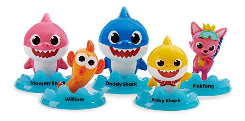 WowWee Pinkfong Baby Shark Official 5-Figure Pack - Baby Shark and Friends