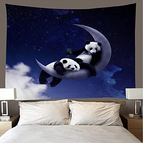 binghongcha 3D Tapestry Cute Panda A1038 Mandalatapestries Yoga Mat Beach Towel Blanket,Picnic Beach Sheet, Table Cloth, Boho,Decorative Wall Hanging 150(H) X150(W) Cm