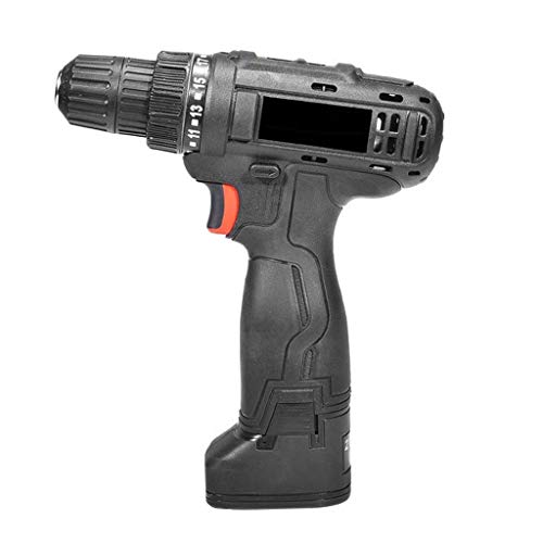 UWY Combi Drill 21V Power Tools Cordless Combi Drill 1300 MAh LI-Ion Battery 21 + 1 Driver 2-Speed Compact Case for Masonry Metal Wood Drilling(Size:21V)