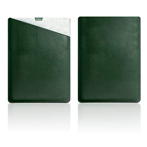 """WALNEW 13.5"""" Sleeve for 13.5 Inch Microsoft Surface Laptop 4/3/2/1(2021/2019/2018/2017 Released) Protective Soft Sleeve Case Cover Bag with Safe Interior and Exterior Mouse Pad, Green"""