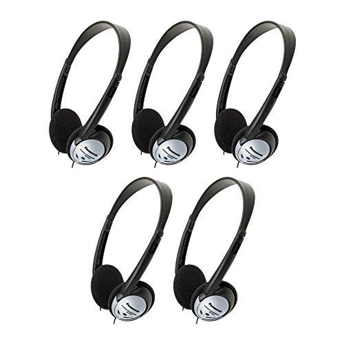 Panasonic RP-HT21 Lightweight Headphones with XBS (5 Pack)