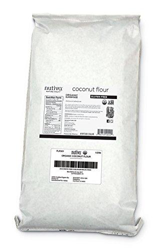 Nutiva Organic, non-GMO, Gluten-free, Unrefined Coconut Flour, 25-pound