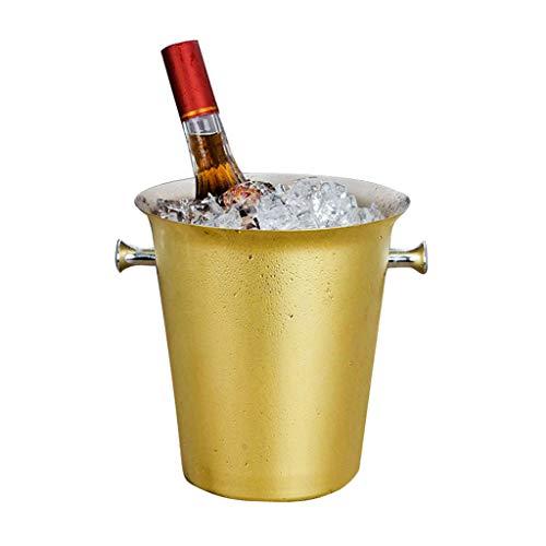 LXJ Cubo De Hielo Cubo De Hielo De Acero Inoxidable De Oro 5L E Pinzas De Hielo, Cubo De Hielo, Cubo De Hielo, Cubo De Hielo para Bar Fiestas Familiares Fiestas De Barbacoas