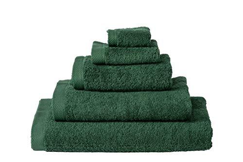 Handdoek 50x100 cm Uni List Donker Groen 20173-4 Stuks (500 gr/m2)