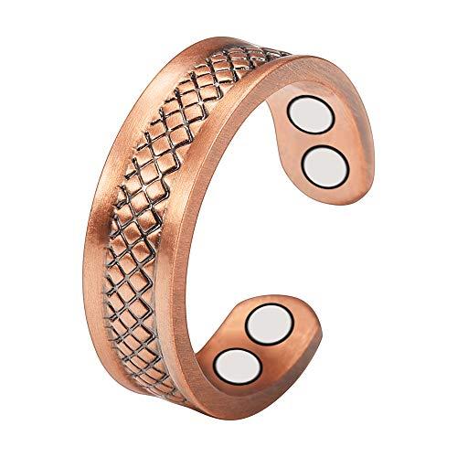 (CPR-0935) Anillo magnético ajustable de cobre saludable para mujeres/hombres para artritis