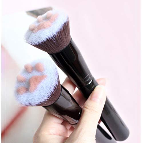 Fyeep Cat Artiglio Paw Make-up Pinsel, Cute Professional Face Brush Beauty Gesichtsbürste Lang anhaltender Concealer (Black)