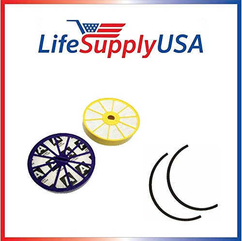 Find Discount LifeSupplyUSA 5 Replacement Pre and Post Motor HEPA Filter Sets with Rubber Seals Comp...