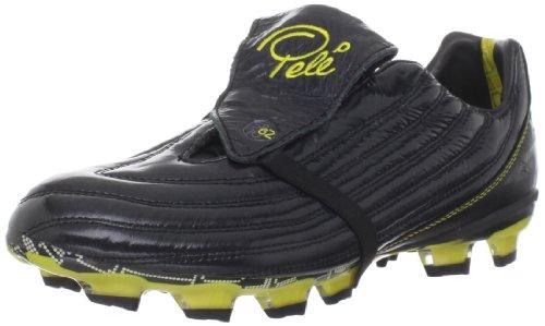 Fussballschuhe Pelé Sports 1962 FG MS in schwarz-gelb Gr: 40,5-48, Black/Yellow, 40.5