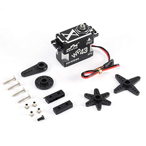 Swiftgood Wp43 Servo Jx Wp43 43Kg 8,4 V / 0,11 Sek. Rc Servo Ip67 Nennwasserdichtes Metallgetriebe Aluminium Coreless Servo für Rc Car Truck Helicopter