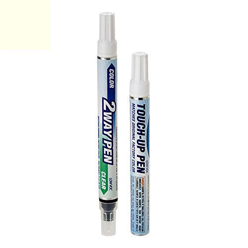 ExpressPaint 2WayPen - Automotive Touch-up Paint for Cadillac Escalade - White Diamond Pri Metallic Tri-Coat 98/WA800J - Color + Clearcoat Only