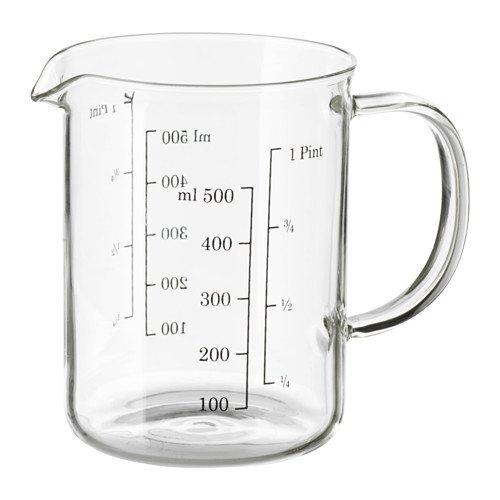 IKEA VARDAGEN Messbecher aus Glas; (0,5l)