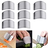 Luckycivia 8 Pack Stainless Steel Finger Guard, Guard Finger Protector, Safe Knives Guard Chop Safe Slice Kitchen Tool For Dicing and Slicing in Kitchens