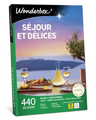 Wonderbox - Coffret cadeau - SEJOURS ET DELICES - 440 séjours en hôtels, châteaux