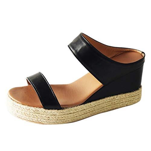 Damen Damen Plattform Schuhe Hausschuhe weiche Verschleißfest Sommer Sandalen Wedges Leopard Casual Schuhe Gladiator Roman Sandalen Keile Leopard Retro Peep Toe Sandalen Für Strandreisen (36 EU)