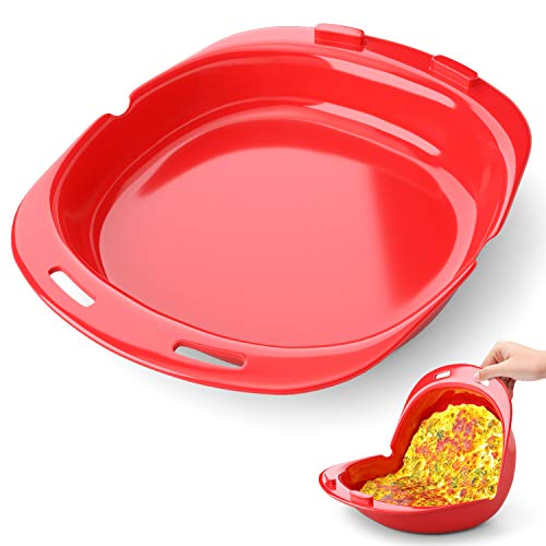 Silicone Omelet Maker, Non Stick Omelette Maker, Foldable Omelette Tool, Egg Roll Baking Pan, Quick and Easy Breakfast Set No Oil or Butter Needed To Make Egg Roll 1 Pack-8.58×4.56×2.73in