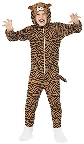 Smiffy's-27991L Miffy Traje Tigre, Todo en Uno con Capucha, Color marrón, L-Edad 10-12 años (27991L)