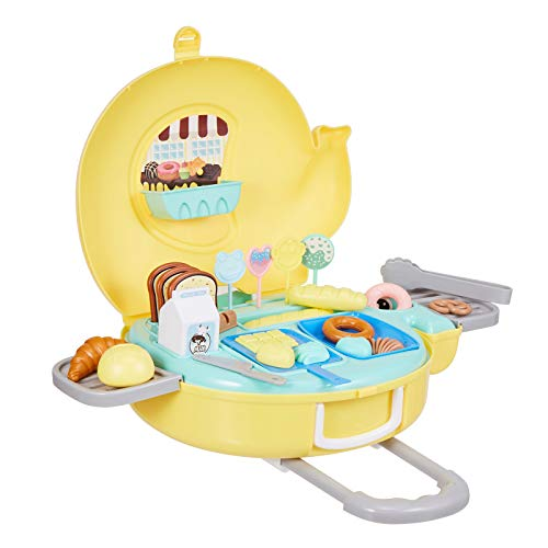 N A Kitchen Toy Set - Pretend to be a Kitchen Toy, Children's Cooking Toys are Suitable for Toddler Food and Cutting Toy Sets, The Best Gift for Boys and Girls who Like to Play with Kitchen Toy Sets