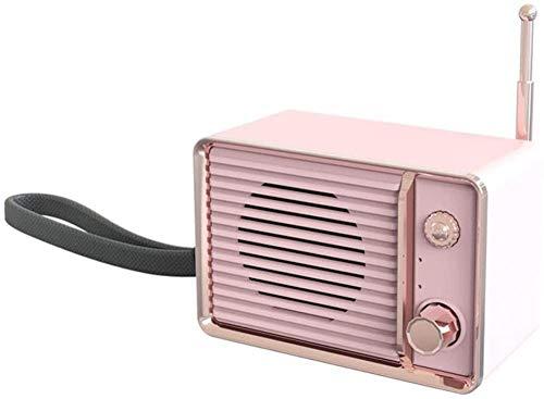 Mini audio recargable retro portátil de graves pesados de viaje inalámbrico USB HIFI estéreo lindo altavoz Bluetooth envolvente 3D (color : C)-Di