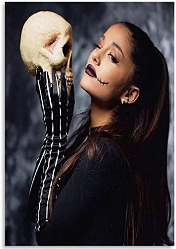 Rompecabezas 1000 Piezas Ariana Grande Halloween Makeup Posters PaperAdult Toys Juego de descompresión Fe913Jw (38X26cm)