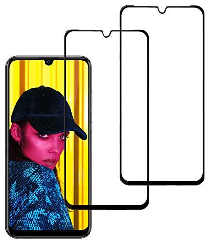 Eachy Huawei P Smart 2019 Panzerglas Schutzfolie, [2 Stück] Vollständige Abdeckung Ultra-klar Displayschutzfolie für Huawei P Smart 2019 Panzerglasfolie 6,21 Zoll-Schwarz(0,33 mm)