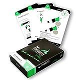 figgrs Trainingskarten Gymball I 50 Fitness Übungen für vielseitiges Ganzkörper Training mit dem Gymnastikball I Workout Karten Sport zuhause I Fitnesskarten für Anfänger bis Profi