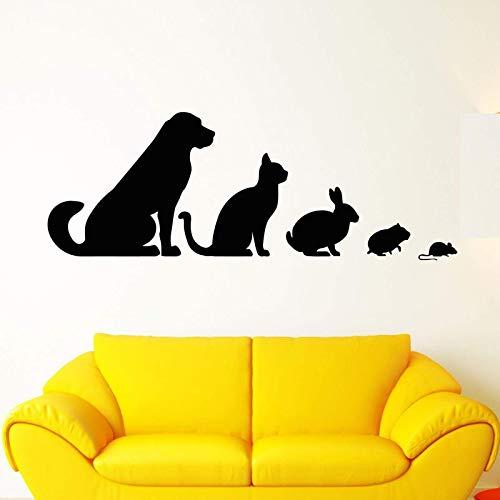 Klinik Tier Vinyl Wandapplikation Veterinär Hund Hund Katze Kaninchen Hamster Aufkleber Haustier Haus Zoo Dekoration Wand Sticke A3 158x57cm