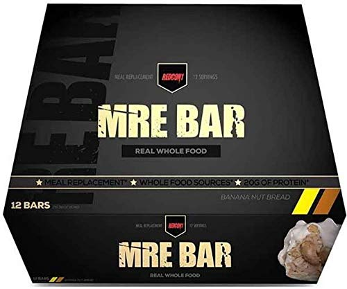 Redcon1 MRE Bar  Meal Replacement Bar 1 Box / 12 Bars  Crunchy Peanut Butter Cup  Animal Based Protein No Bloating 20G Protein Real Food Taste
